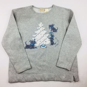 Bobbie Brooks Winter / Christmas Gray Sweater M